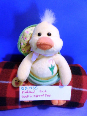 Plushland Baby Duck in Zippered Egg Plush