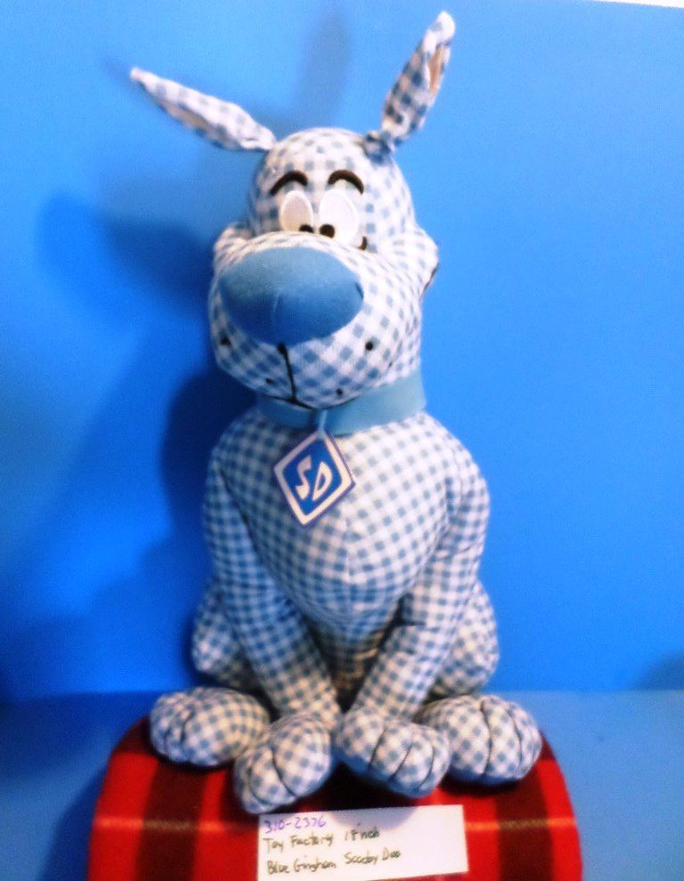 Toy Factory Blue Gingham Scooby-Doo Plush