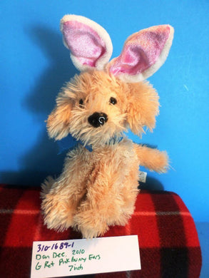 Dan Dee Golden Retriever With Bunny Rabbit Ears 2010 plush(310-1689-1)