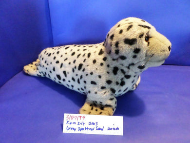 K&M Grey Spotted Seal 2005 Beanbag Plush