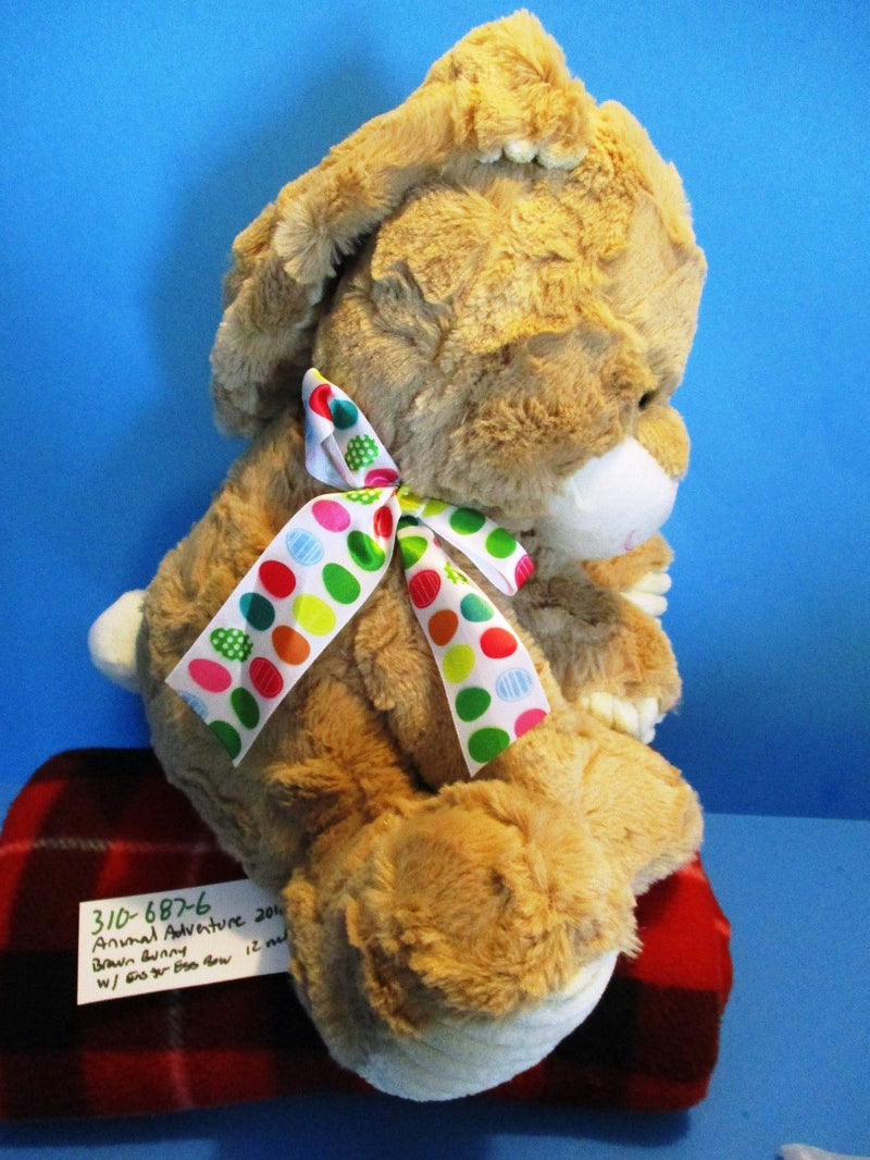 Animal Adventure Tan and Beige Bunny Rabbit with Egg Bow 2018 Plush
