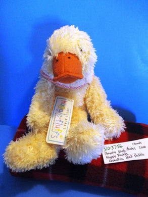 Boyd's Uncle Bean's Huggle-fluffs Quackie Yellow Duck Rattle Plush