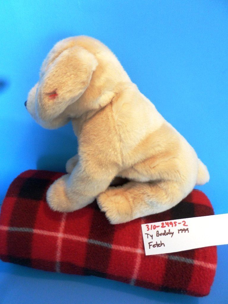 Ty Beanie Buddy Fetch Golden Retriever 1999 Beanbag Plush
