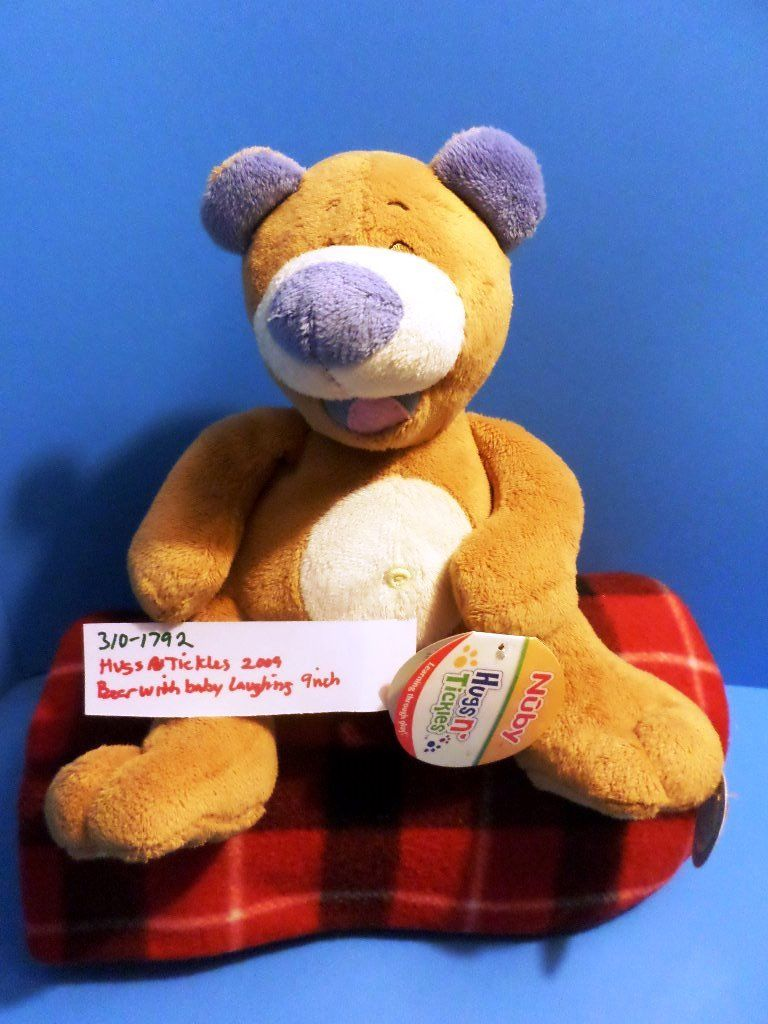 Nuby Hugs N Tickles Laughing Bear 2009 Plush
