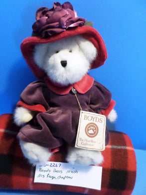 Boyd's Bears Ms. Rouge Chapeau White Plush