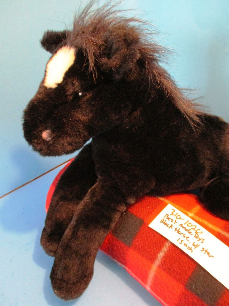 Best Made Toys Black Horse with White Star Beanbag Plush