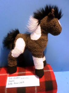Douglas Brown and White Pinto Paint Horse Pony Beanbag Plush