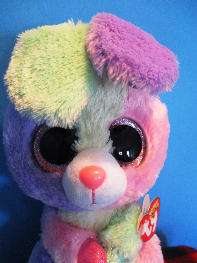 Ty Beanie Boos Bloom the Multi-colored Bunny Rabbit 2015 Beanbag Plush
