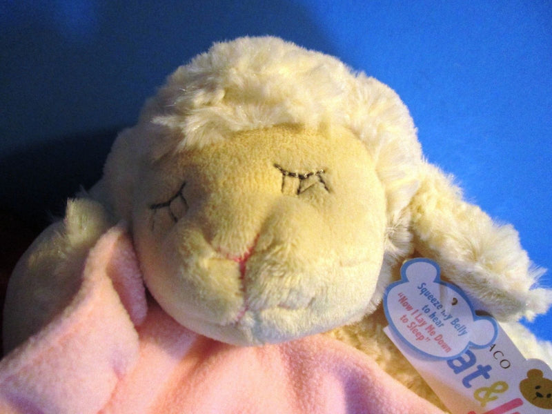 Demdaco Nat and Jules Prayer Lamb With Pink Blanket 2011 Plush