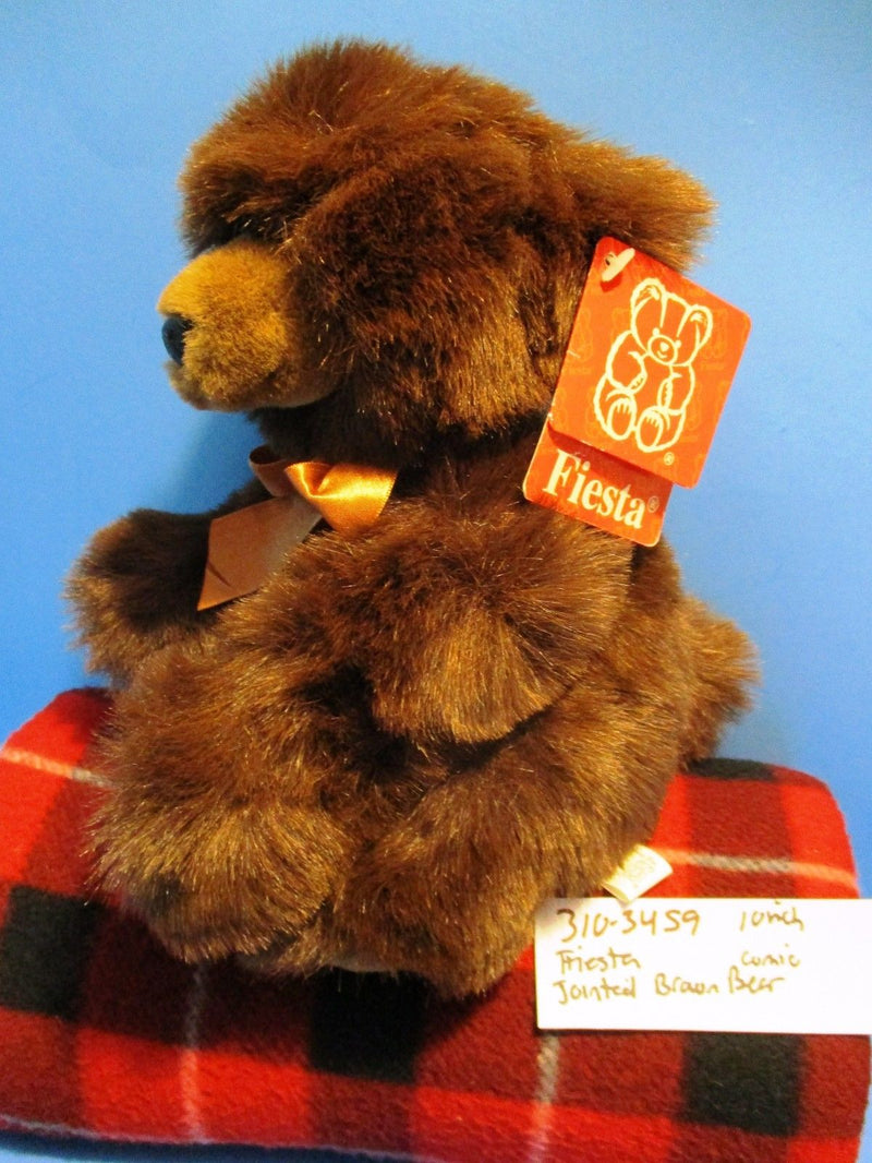 Fiesta Jointed Brown Comic Bear Beanbag Plush