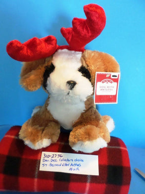 Dan Dee Collector's Choice Saint Bernard With Red Antlers plush(310-2756)