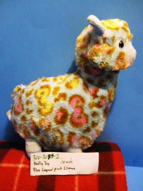Kelly Toy Llama/Alpaca With Blue Leopard Print plush(310-3098-2)