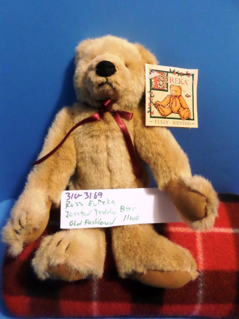 Russ Eureka Jointed Brown Teddy Bear Plush