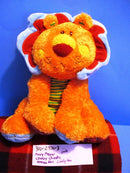 Mary Meyer Cheery Cheeks Orange Lively Lion Beanbag Plush