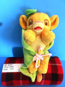 Disney Parks Babies Lion King Simba in Leaf Blanket Plush