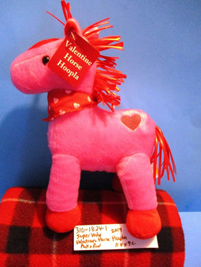 Animal Adventure Valentine Pink Hoopla Horse 2014 Plush