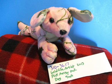 Wildlife Artists Camo Wild Pink Mossy Oak Lab Puppy Dog 2013 Beanbag Plush