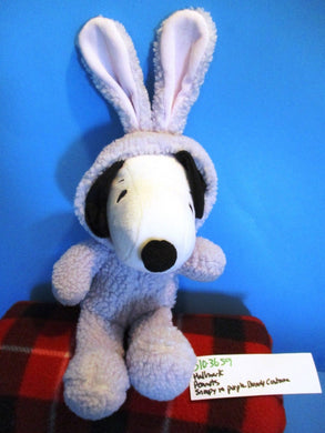 Hallmark Peanuts Snoopy in Purple Bunny Costume Beanbag Plush