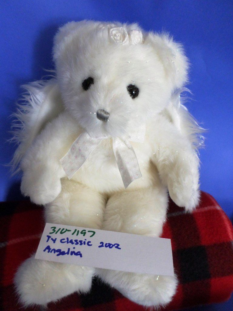 Ty Classic Angelina the White Angel Bear 2002 Beanbag Plush
