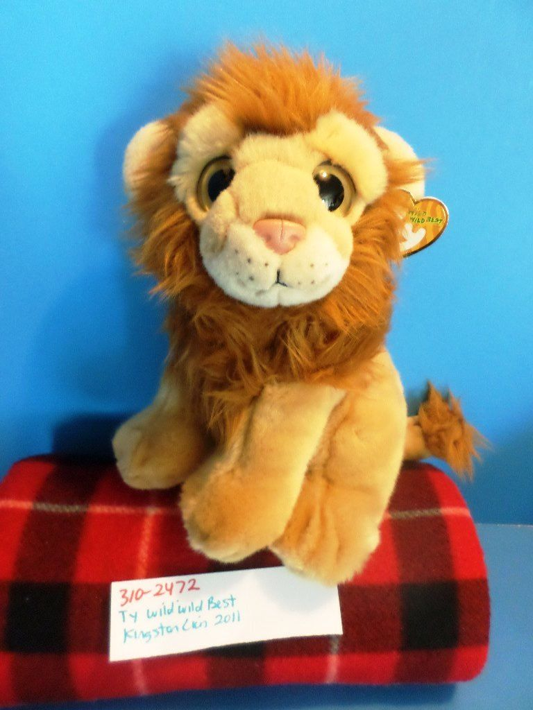 Ty Wild Wild Best Kingston the Lion 2011 Beanbag Plush
