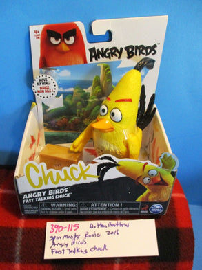 Spin Master Rovio Angry Birds Fast Talking Chuck Action Figure(390-115)