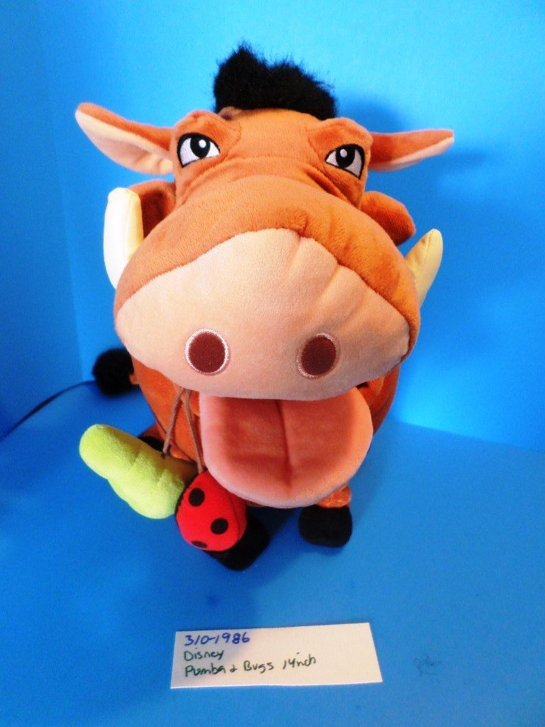 Disney Store Lion King Pumba and Bugs Insects Plush