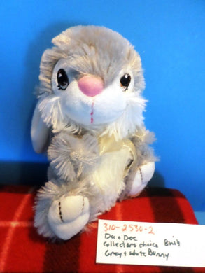 Dan Dee Collector's Choice Grey and White Bunny Rabbit plush (310-2530-2)