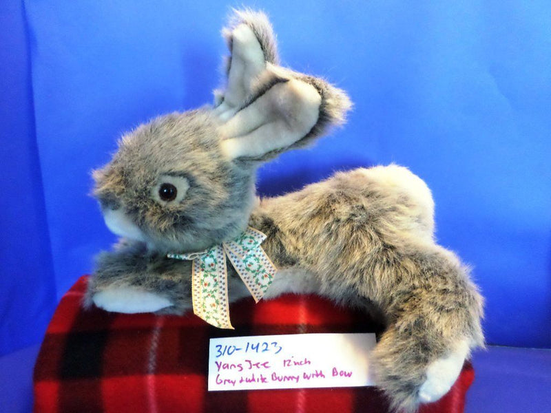 Yang Jee Grey and White Bunny Rabbit Plush