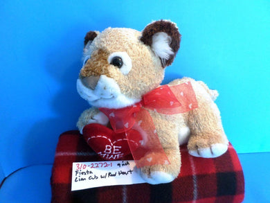 Fiesta Lion Cub With Red Heart plush(310-2272-1)