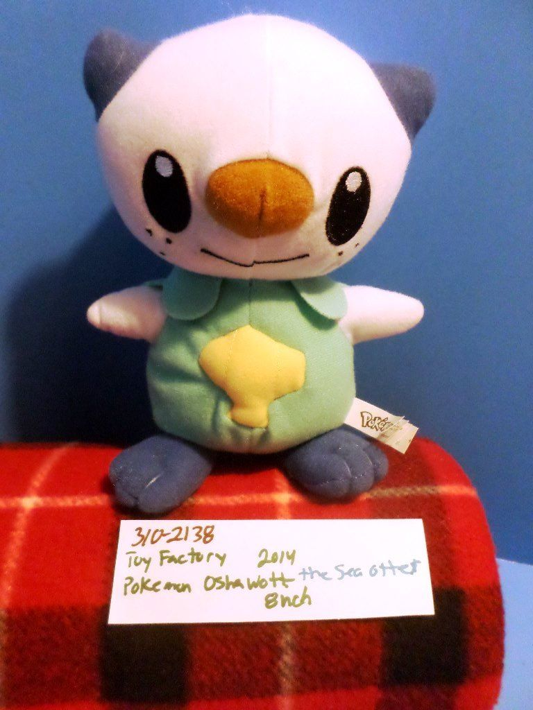 Toy Factory Pokemon Oshawott the Sea Otter 2014 Plush
