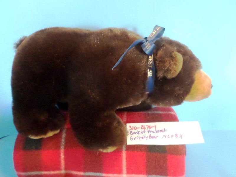 Bank of the West Brown Grizzly Bear Plush