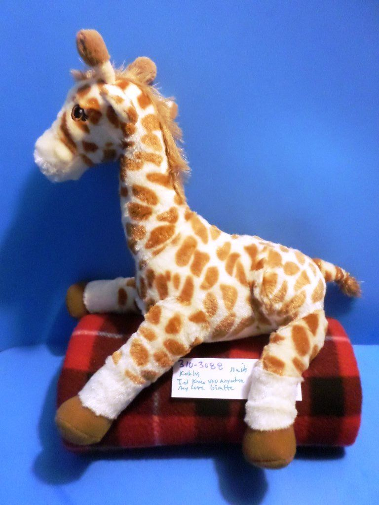 Kohl's Cares Nancy Tillman I'd Know You Anywhere My Love Giraffe Plush
