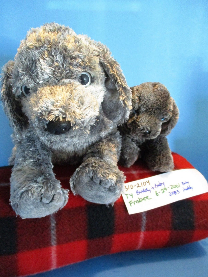 Ty Beanie Buddy 2003 and Baby 2001 Frisbee Weimaraner Beanbag Plushes
