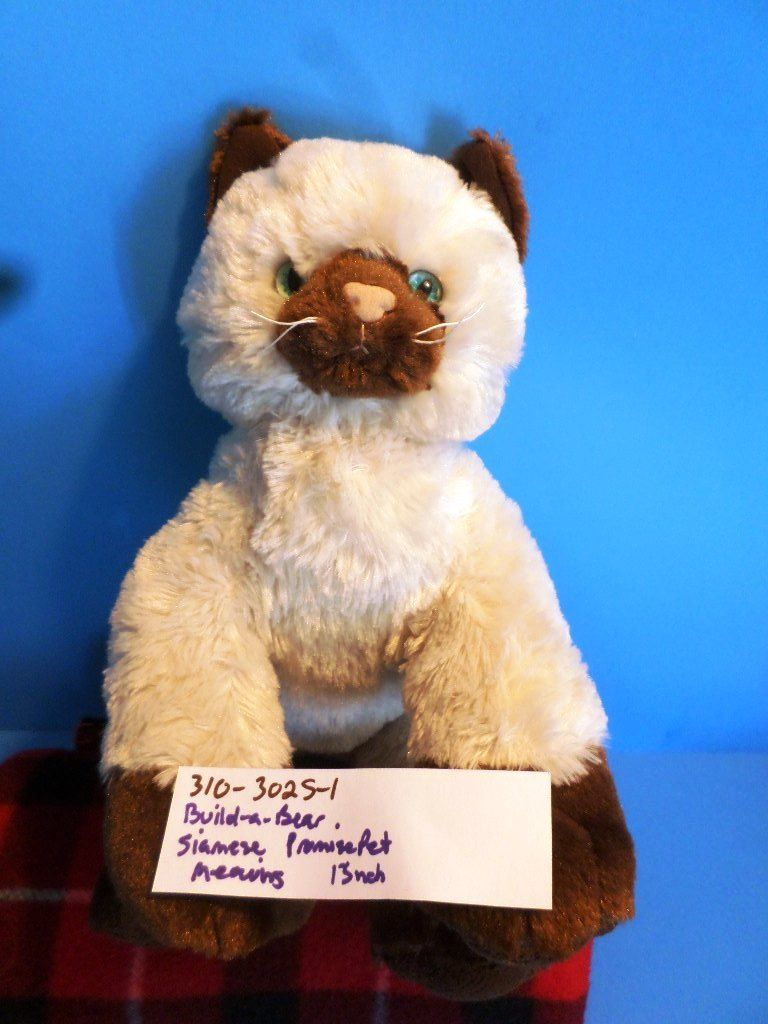 Build-A-Bear Promise Pet Siamese Himalayan Cat Meowing Plush