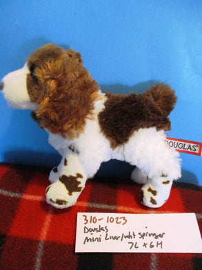 Douglas Mini Liver (Brown) and White Springer Plush