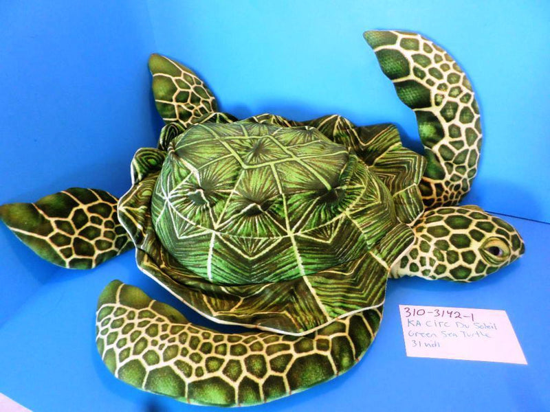 Cirque Du Soleil KA Green Sea Turtle Plush