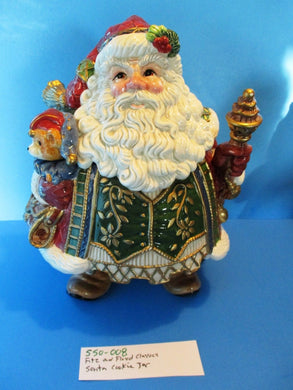 Fitz and Floyd Classics Jolly Ole St. Nick Santa Cookie Jar