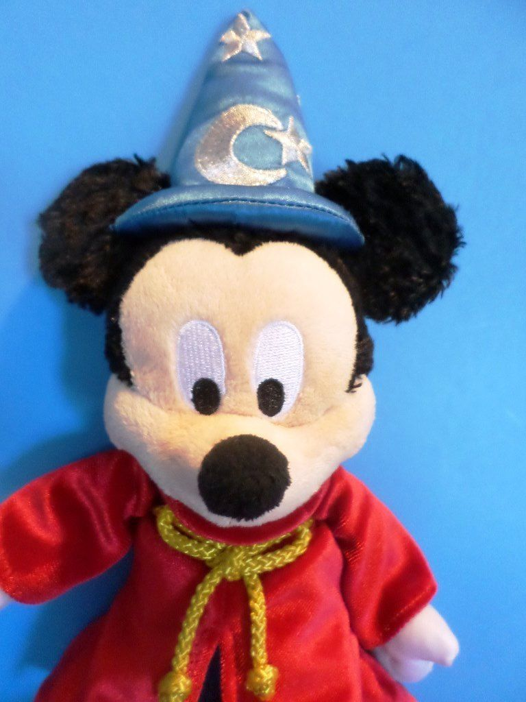 Disney Parks Fantasia The Sorcerer's Apprentice Mickey Mouse Plush