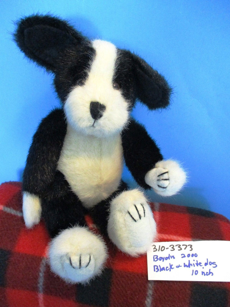 Boyd's Bears Philo Puddlemaker Black and White Dog 2000 Beanbag Plush