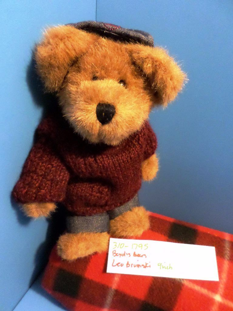 Boyd's Bears Leo Bruinski Brown Bear in Maroon Sweater and Jeans 2000 Plush