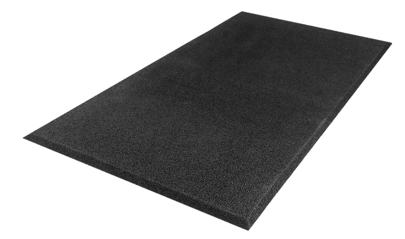 Anti-Fatigue Rubber Mat Black Small