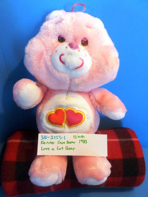 Kenner Care Bears Pink Love a Lot Bear 1983 Plush