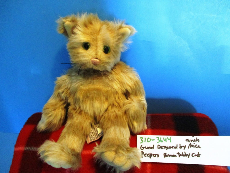 Gund Mica Peepers Tan Tabby Cat Beanbag Plush