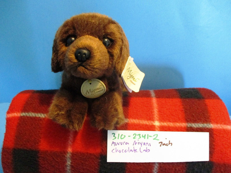Aurora Miyoni Chocolate Brown Lab Beanbag Plush