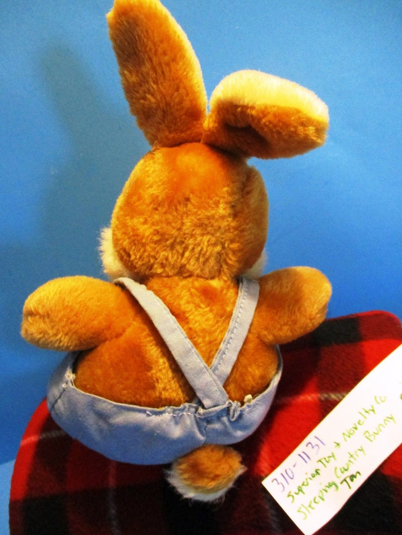 Superior Toy and Novelty Tan Sleeping Country Bunny Rabbit Plush