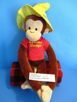 Universal Studios Curious George  in Yellow Hat Plush