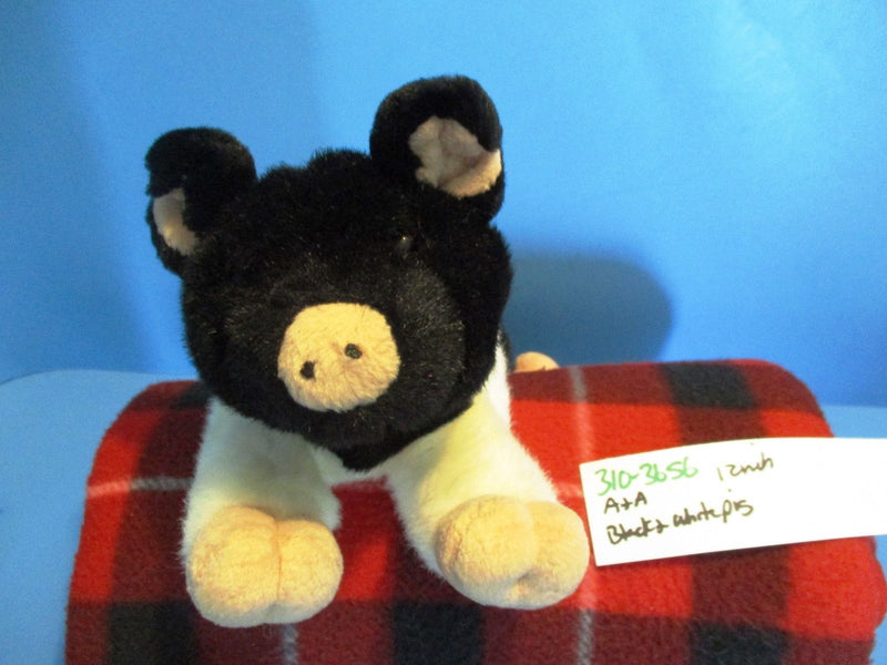 A&A Black and White Pig Beanbag Plush