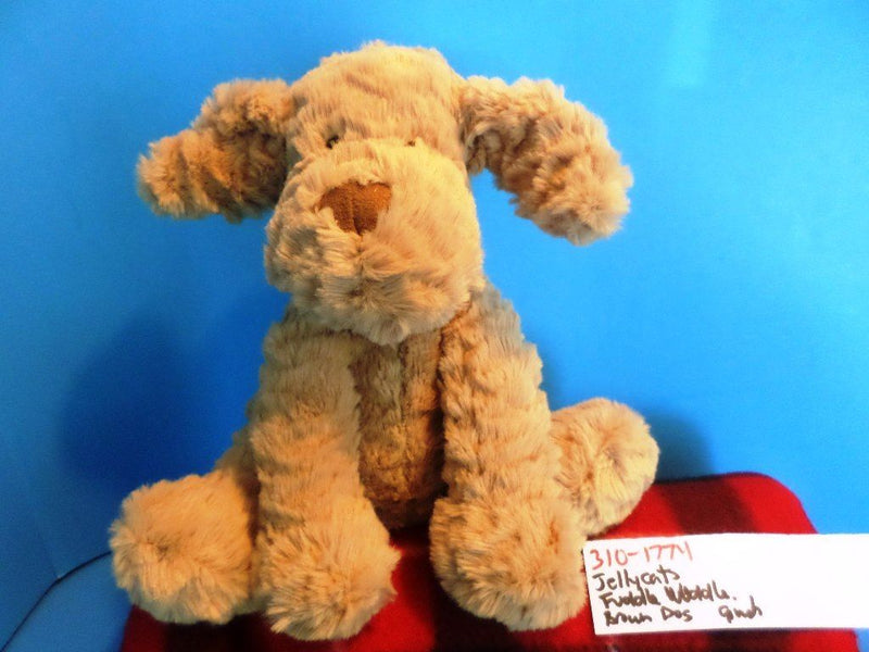 Jellycat Fuddlewuddle Tan Dog Beanbag Plush