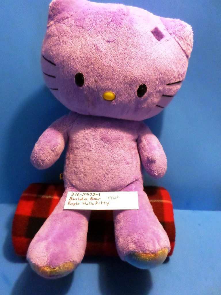 Build-A-Bear Hello Kitty Purple Love Plush