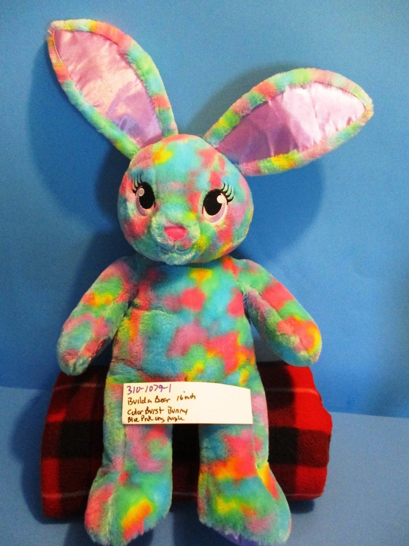 Build-A-Bear Color Burst Tie Dye Bunny Rabbit Plush